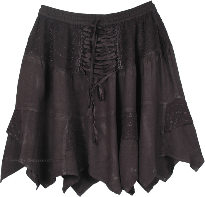 41fb426142 Hip in Black Gothic Style Short Skirt | Short-Skirts | Black | New ...