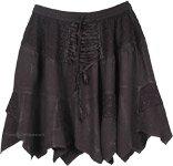 Groovy Summer Lace-Up Short Skirt  [4593]