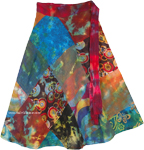 Indian Peafowl Summer Wrap Around Skirt [4682]