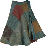 Cerulean Greys Boho Wrap Around Skirt [4735]