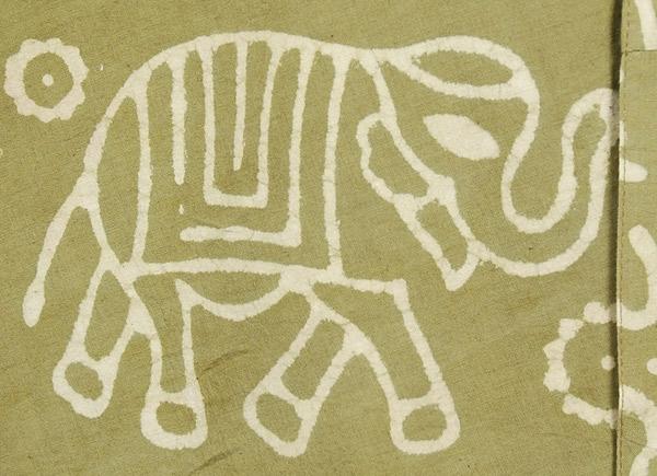 Elegant Elephants Wrap Around Skirt in Avocado