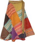 Rhythmic Pastels Wrap Around Skirt [4765]