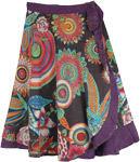 Hippie Floral Mojo Wrap Around Skirt