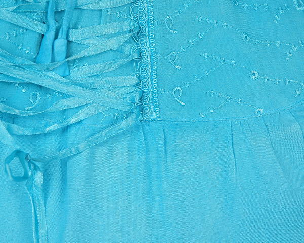 Jamaica Bay Blue Rodeo Mini Skirt with Tie Up Lace