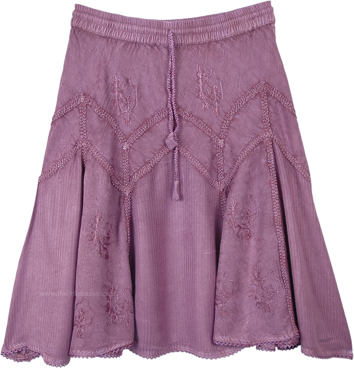 Medieval Styled Rayon Short Skirt in Lilac