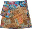 Earthen Snap On Wrap Short Skirt with Fanny Pockets