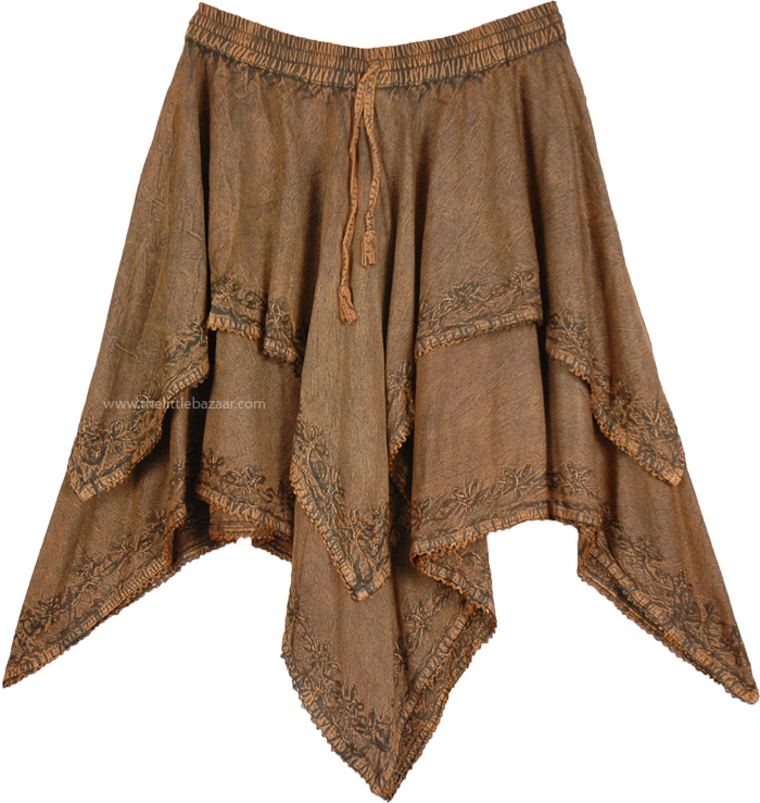 Spice Mix Double Layer Skirt Rodeo Skirt