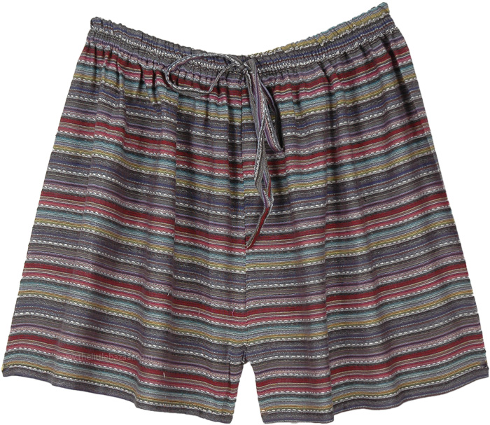 Foliage Striped Cotton Day to Night Shorts