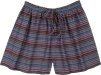 Cotton Summer Beach Pool Lounge Shorts in Stripes