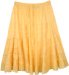 Buttercup Yellow Tiered Short Skirt in Cotton