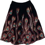 Peacock Sequined Shark Short Skirt
