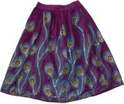 Peacock Sequined Camelot Short Skirt