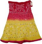 Sun Kiss Tie Dye Sequin Short Skirt