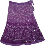 Purple Prose Sequined Tie Dye Short Skirt