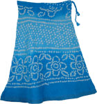 Horizon Blue Cotton Tie Dye Blue Short Skirt