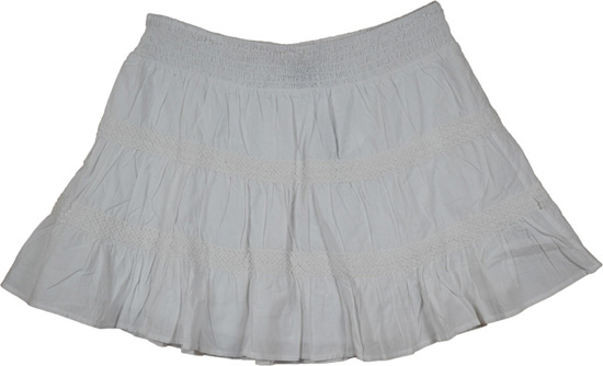 White Short Skirt - Dress Ala