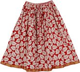Bright Red Summer Short Skirt