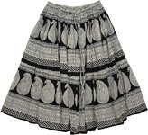 Black White Everyday Fashion Skirt