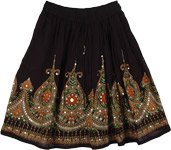 Sahara Black Short Skirt