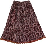 Jon Merlot Boho Crinkled Ladies Short Skirt
