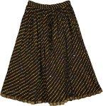 Wavy Black Crinkled Skirt
