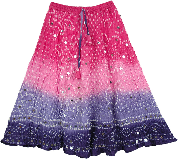 Arabelle Sequined Tie Dye Little Girls Skirt