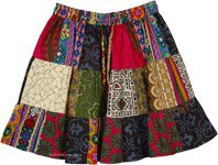Happy Go Lucky Short Patchwork Skirt