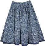 Blue Bay Cotton Short Knee Length  Skirt