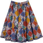Retro Bright Colors Short Skirt