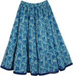 Azure Short Cotton Summer Skirt