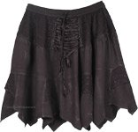 Hip in Black Gothic Style Short Skirt