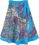Extra Small Pastel Paisley Print Wrap Around Short Skirt