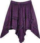 Renaissance Mid Length Dance Skirt in Purple