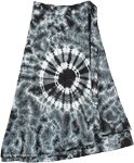 Black Gray Chakra Gypsy Wrap Around Short Hippie Skirt