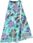 Bay Wave Wrap Around Petite Maxi Skirt