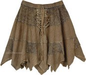 Contessa Rodeo Festival Front Tie-Up Short Skirt