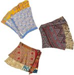 Free-Spirit 2 Layer Saree Silk Skirts 18 inches - Pack Of 3