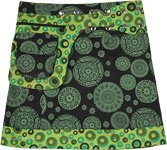 Snap Wrap Short Skirt with Mandala Print and Fanny Pack