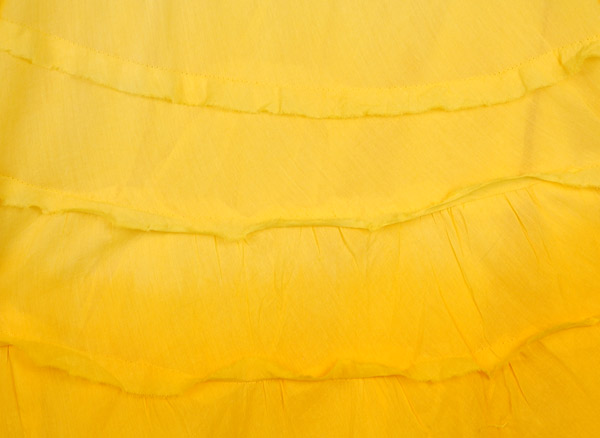Bright Yellow Ombre Knee Length Summer Skirt with Tiers