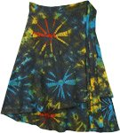 Roma Bohemian Tie Dye Wrap Around Short Skirt