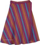 The Matrix Plus Size Cotton Woven Wrap Around Knee Skirt