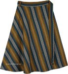 Kabul Knee Length Woven Cotton Wrap Skirt in Plus