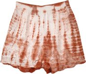Rusty Hues Eyelet Cotton Airy Boho Shorts