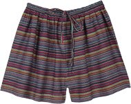 Winter Forest Striped Cotton Day To Night Shorts