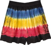 Colorful Tie and Dye Beach Summer Junior Shorts