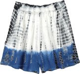 Cloud Blue Tie and Dye Junior Shorts