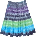 Color Tides Tie Dye Tiered Cotton Short Skirt