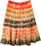 Desert Storm Tie Dye Cotton Short Skirt