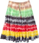 Forest Hippie Tie Dye Cotton Short Skirt