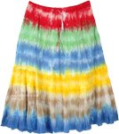 Happy Colors Bright Tie Dye Cotton Short Skirt